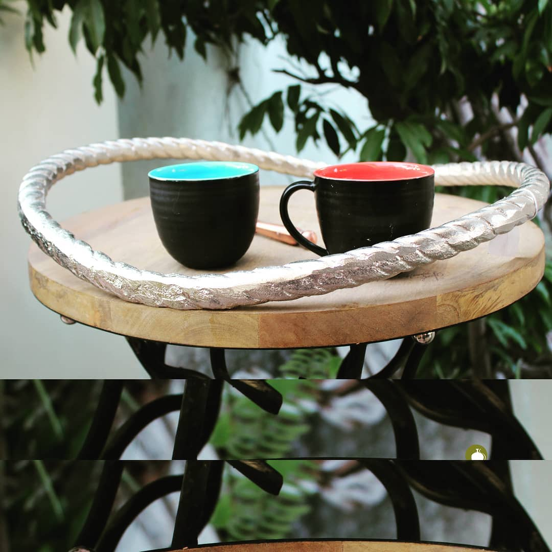 Whatever is the weather, you can't live without your cuppa coffee...Stylize the routine with these pretty trays  #tray #coffeelover #trays #coffeetime☕ #homedeco #homestyle #homeinspiration  #lovefordesign #lovefordecor #manorhousedecor #ManorHouse