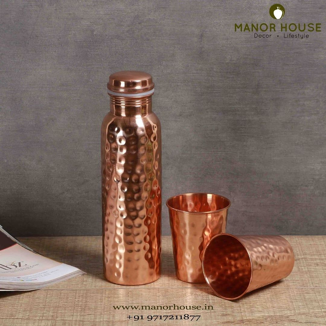 Adhara Copper Bottle and Glass Set Hamper 1 Copper Bottle 2 Copper Glasses 2 Rakhis and Tika Cling Wrapped   #architecturedesign #estyart #bestofetsy #etsysellers #gifts #rakhihampers #hampers #gifting #giftsforbrother #giftforsister #usefullgift #ipreview via @preview.app