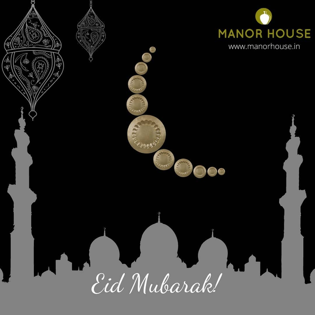 Manor House Decor wishes each and every one a happy and safe EID! p.s - Our unique wall plates acting as Moon . . . . #eid #eidmubarak #eid2021 #artist #artisians #handmade #handcrafted #kaareegar #celebrate #safeeid #respect #india #festival #walldecor