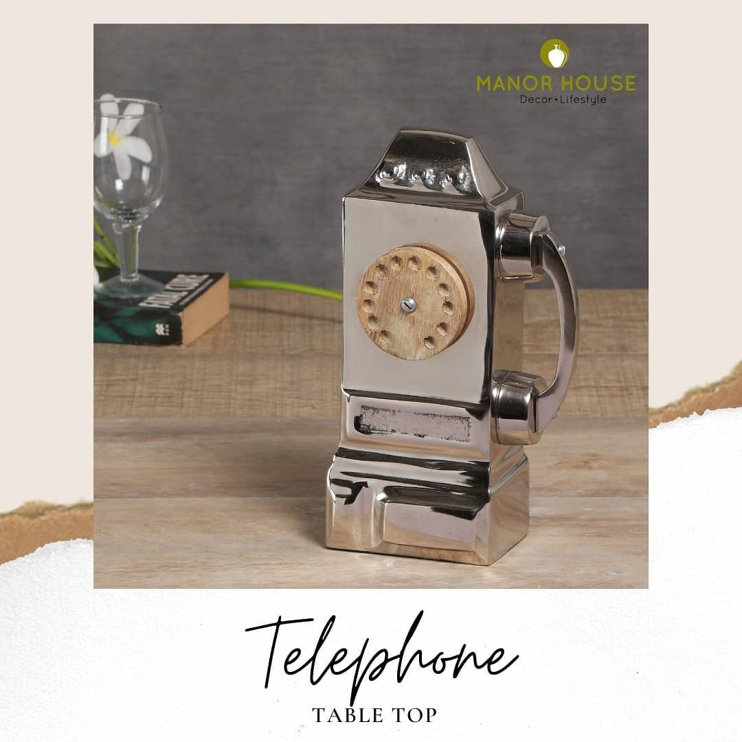 Buy this exclusive telephone showpiece that comes with a classic design and a premium nickel finish to add on its beauty. . . . . #tabletop #showpiece #aesthetic #tabletops #homedecor #drawingroom #decor #livingroom #antique #telephone #phone #nickel #nickelfinish #homedecorproducts #gifts #show #gift #corporategift #studytable #premiumgifts #indianhomedecor #homecanva #beautifulhomesindia #myhomefeel #homeiswheretheheartis #homedecorindia #homedesign #storyofmyhouse #designdeinteriores #accessories @raw_community @raw_homestyle @raw_community_member @indiatoday_home