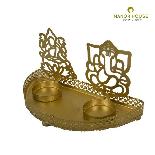 This festive season bring home these Lakshmi Ganesh Tealight Holders and enhance the beauty of your spiritual corner!  The light from the