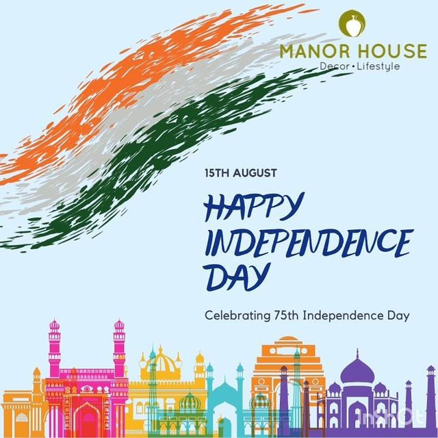 Manor House is proud to celebrate 75th Independence Day!    Let's celebrate freedom and share love!   #salute #independenceday #freedom #15thaugust #freedomfighters #proud #india #indians #indian #decor #homedecor #homedecorlovers #tricolor #indianflag #manorhouse #manorhousedecor #trending #independencedaypost #love #spirit #celebrate