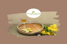 Check out this multi purpose round tray that comes with an aluminum rope to give a classy rustic look. Use it as a centrepiece table tray or as a decorative base for highlighting showpieces! Know more - www.manorhouse.in . . . . . #homecanva #myhomefeel #homeiswhereheartis #indianhomedecor #decor #centrepeicetray #roundtray #rusticlook #classy #classic #tray #trays #serveware #aluminumfinish #gifting #gifts #giftformom #tableware #showpiece #rope #thedecorstories #homestyling #homegarnishing #indiatodaydecor #raw #art #styling #indianhomes #creativehome @creative_homestyles @beautifulhomes.india @_home.decor.ideas_ @home_decor_ideas_online @raw_homestyle